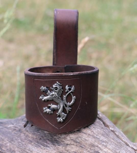 Lederhalter Horn Lion