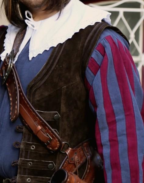 Musketierkragen Baumwolle