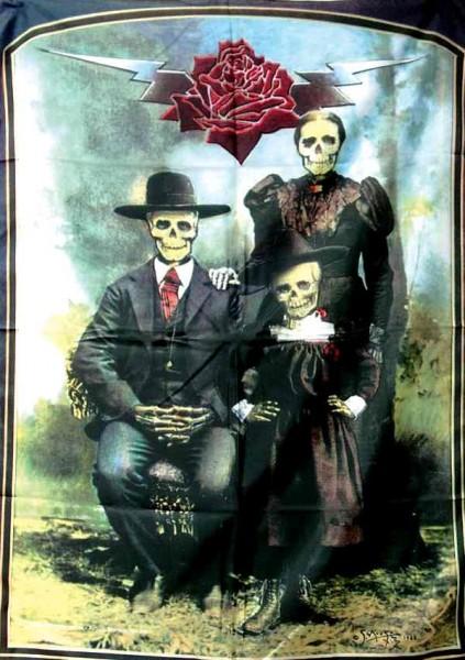 Posterfahne Skelettfamilie!