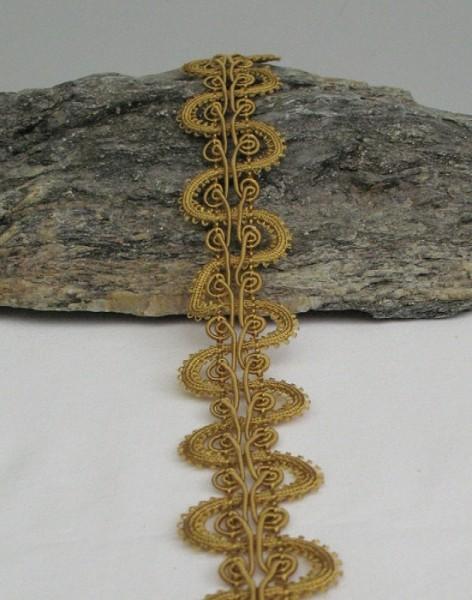 Textilborte Schlaufen goldgelb