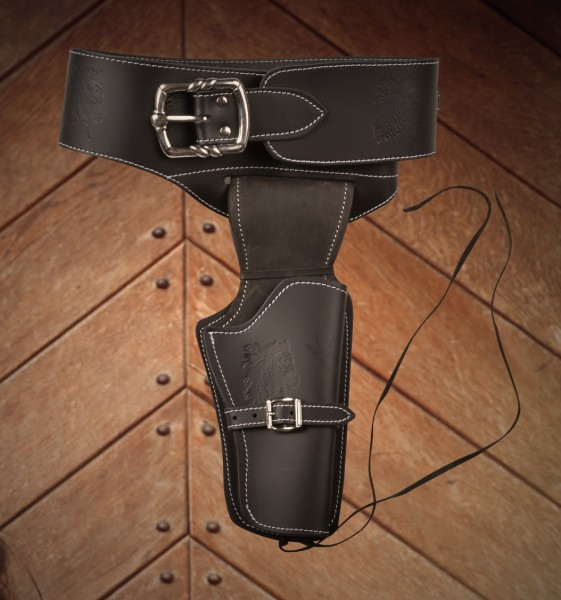 Coltgürtel schwarz Sheriff