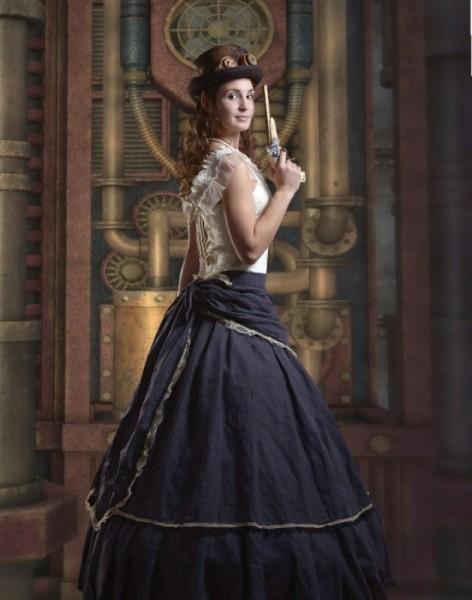 Streifenrock 19 Jahrhundert Jane