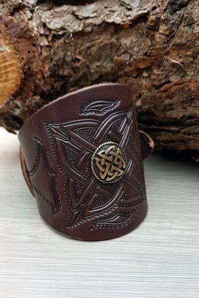 Leder Armband keltisch