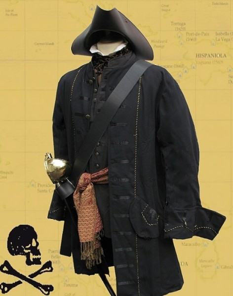 Piratenmantel Baumwolle