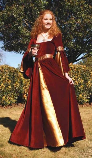 Burgundy Mittelalterkleid