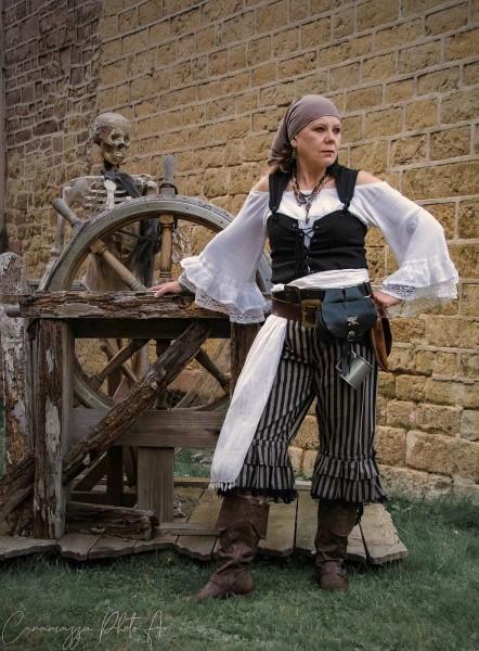 Hose Cirque gestreift Pirat