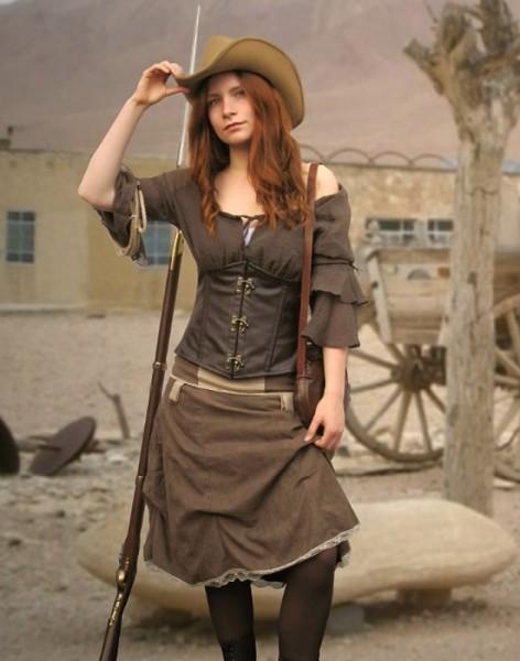 Western Saloongirl Gewandung 3-teilig