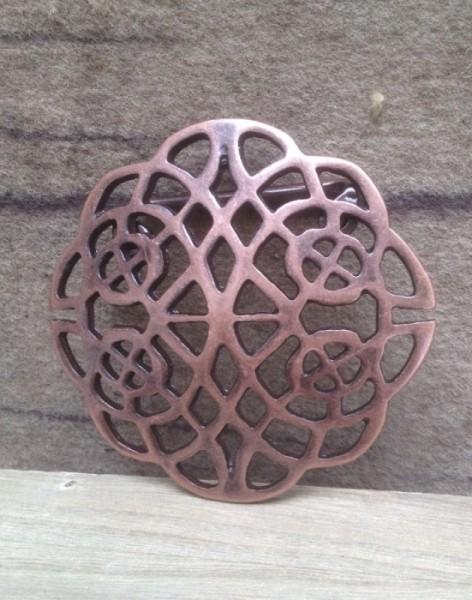 keltische Gürtelschnalle kupferfarben