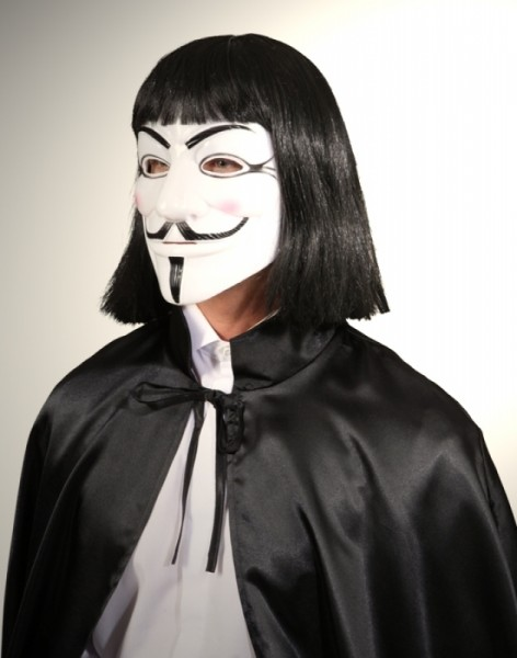 Maske Vendetta schwarz-weiß