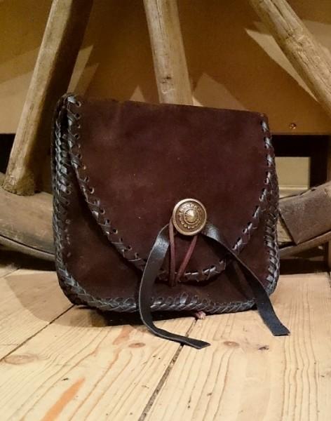 Wildleder Gürtel Tasche braun