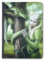Notizbuch Drachenkönigin Elfe