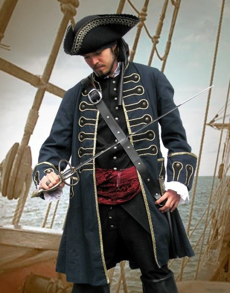 Uniform Gehrock Piratenmantel