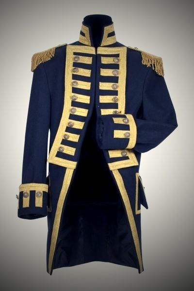 Commandeur Mantel blau