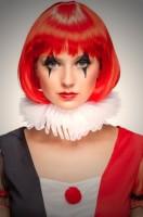Kragen Tüll Clownin Karneval