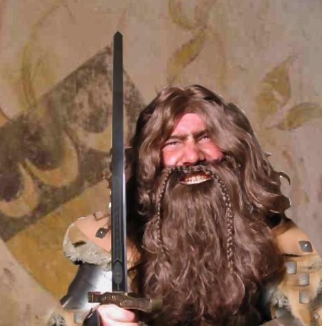 Wikiinger Obelix Perücke und Bart