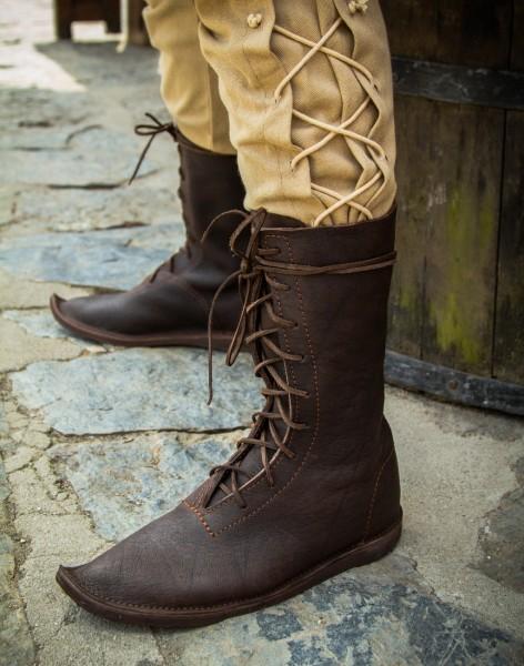 Stiefel mit Schnürung Mittelalter