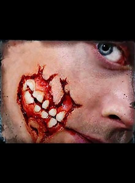 Wunde offener Kiefer 3D