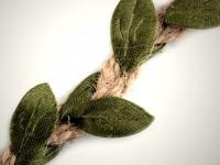 Borte Jute Blätter 25 mm