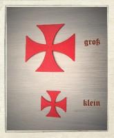 Aufbügler Templerkreuz Rot 10cm