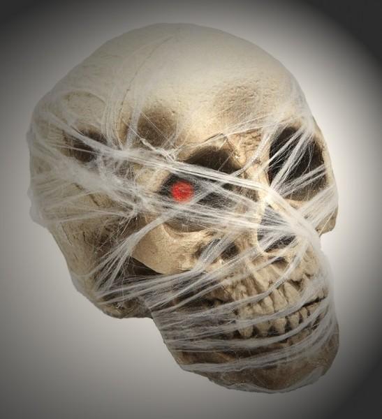 Totenschädel Grusel Spinnweben
