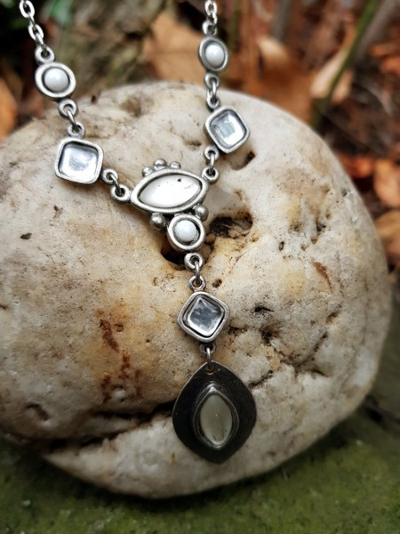 Halskette Steine Kristall