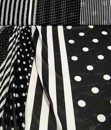 Chiffon schwarz-weiß Mix
