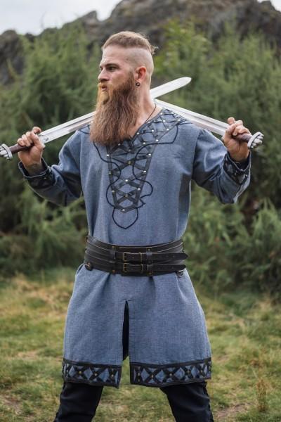 Tunika Vikings graublau