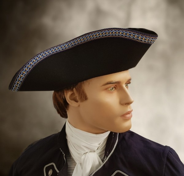 Dreispitz Kapitän blau
