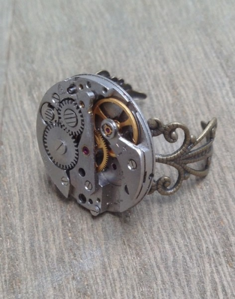 Steampunk Ring Uhrwerk