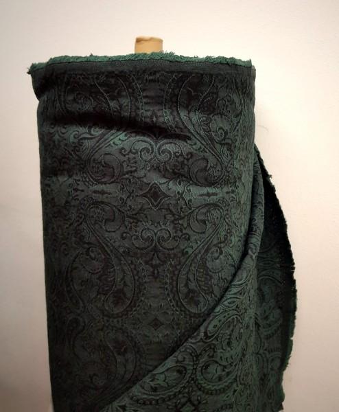 Jacquard Stoff BW schwarz-grün