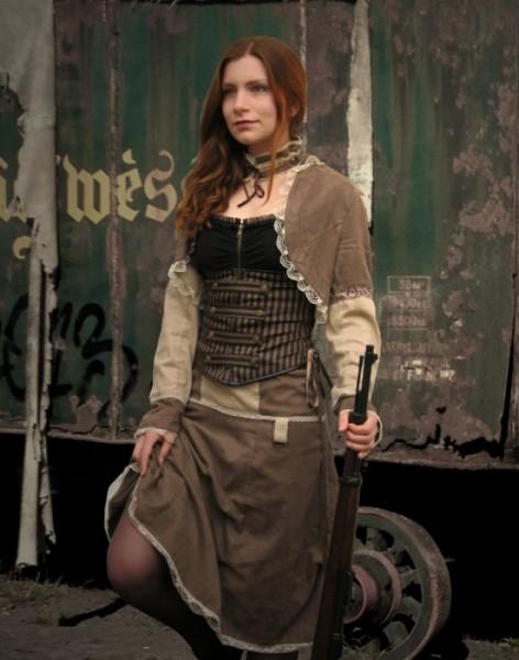 Steampunk Vintage Kostüm 3-teilig