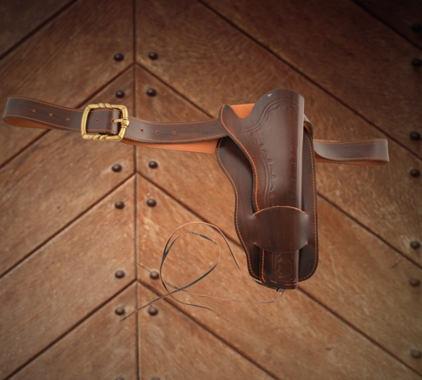 einfacher Coltgürtel Leder