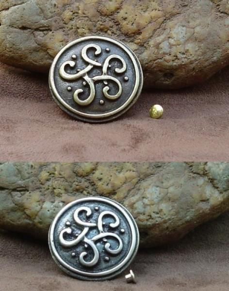 Beschlag/Zierniete für Leder keltischer Knoten