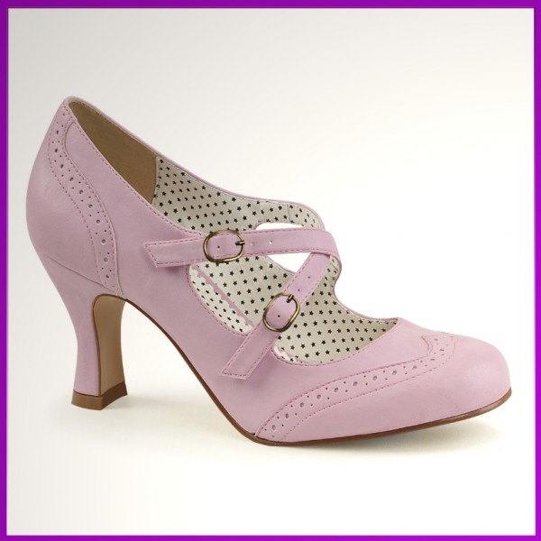 Pin-up Schuhe rosa 60iger