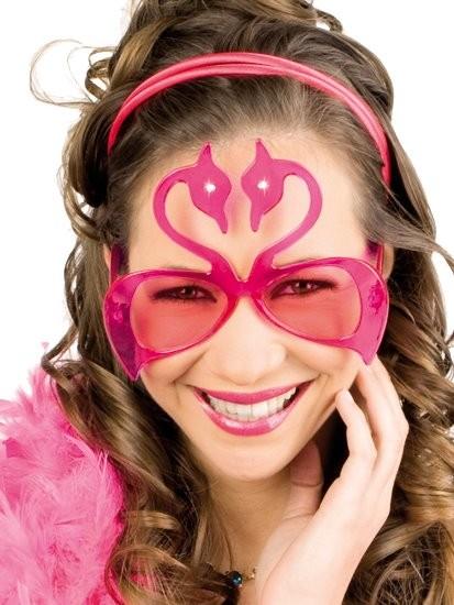 Flamingo Brille Karneval