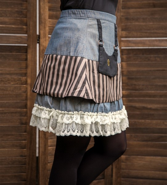 Mini Rock Steampunk Jeans S/M