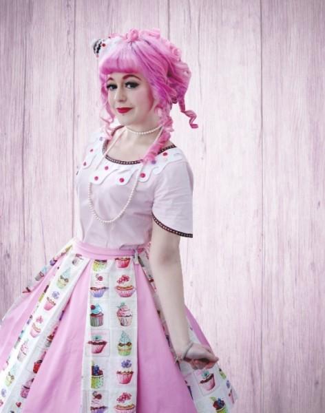 Cupcake Kleid Kostüm 60iger