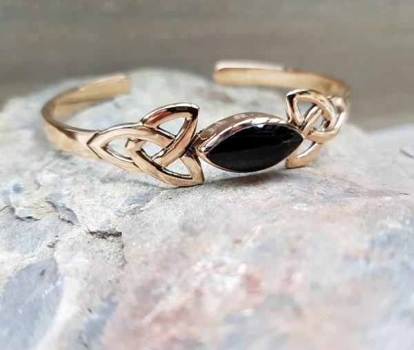 Armreif bronze Onyxstein keltisch