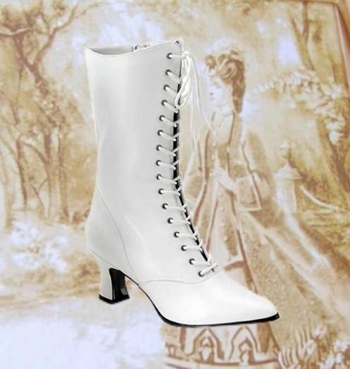 Damen Stiefel 18-19Jh. weiß