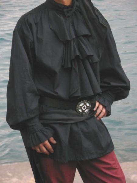 Piratenhemd Stehkragen