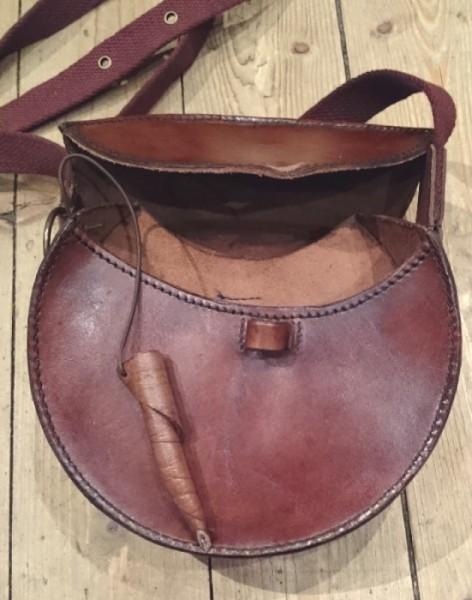 runde Mittelaltertasche Leder