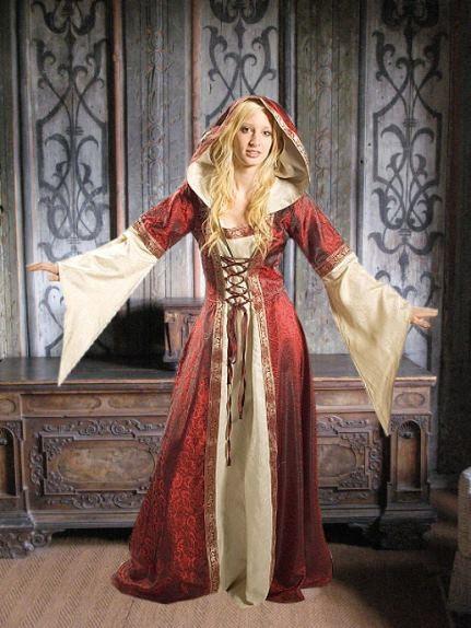 Mittelalterkleid Helena Jacquard