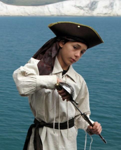 Piraten und Mittelalterhemd naturlook
