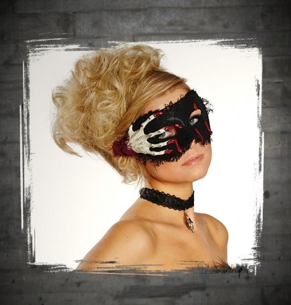 Maske Skeletthand