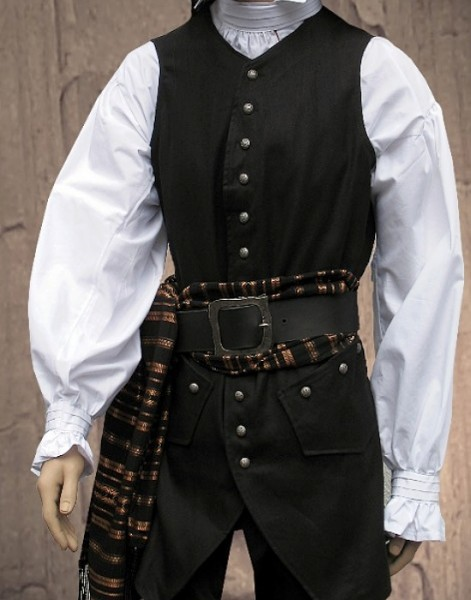 Capitain's black long vest