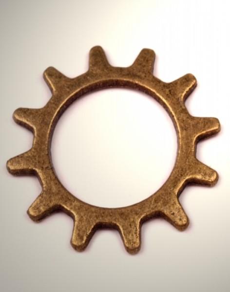 10 x Zahnrad bronze klein 21mm