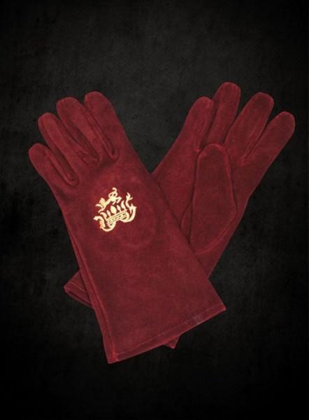 Edelmann Handschuhe weinrot