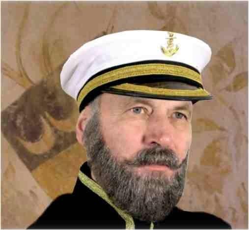 Echthaarbart Kapitän 2-teilig