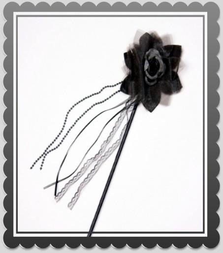 schwarze Gothic Rose