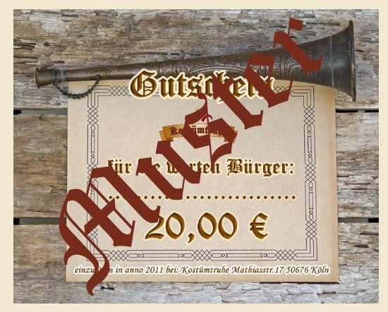 Gutschein 20 EUR für den Onlineshop